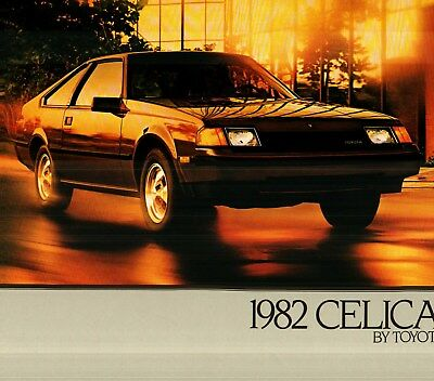 1982 Toyota Celica & Celica Gt Deluxe Color Sales Catalog & Brochure - 2 Items