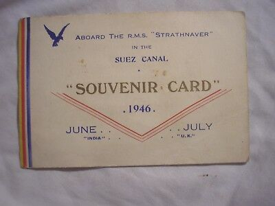 RMS Strathnaver UK India 1946 British Empire History Navy Maritime