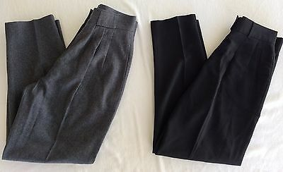 Vintage MONDI Pants Womens 38 W27 x L27.5/28 7A041 Gray Black Wool High Waist