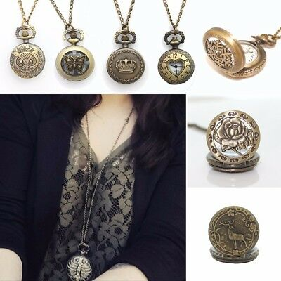 12pcs Mixed Lots Vintage Necklace Pocket Quartz Watch Men Women Dress watch GLM