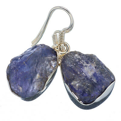 "Tanzanite 925 Sterling Silver Earrings 1 1/4"" Ana Co Jewelry E347922F"