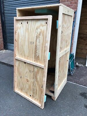 2 x Large Wooden Container Shipping Removal Case Furniture Storage Warehouse