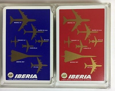 Iberia Airlines Playing Cards - Boeing SST. Double Deck. Mint