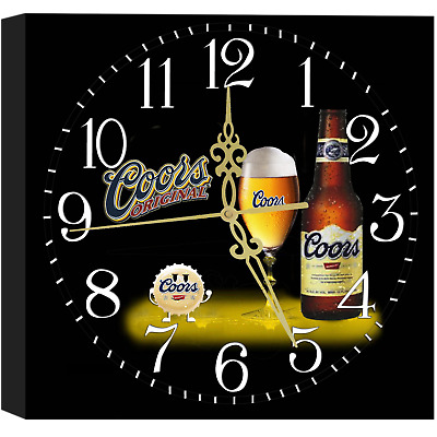Coors Beer Bar Wall Display Clock Brewery