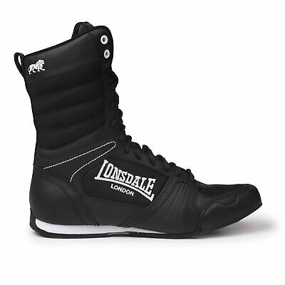 Lonsdale Kids Contender Boxing Boots Mid Cut Lace Up Sport Shoes Junior Boys