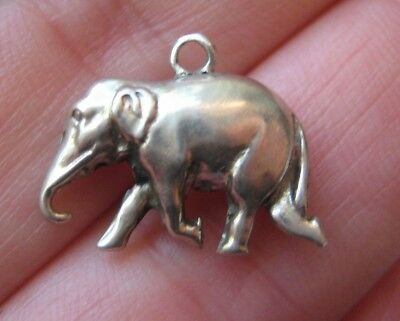 VINTAGE Sterling Detailed ELEPHANT Silver Bracelet Charm