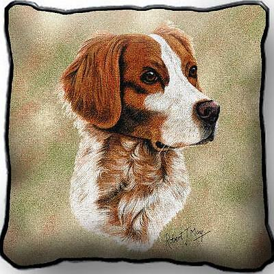 """17"""" x 17"""" Pillow - Brittany by Robert May 1154"""