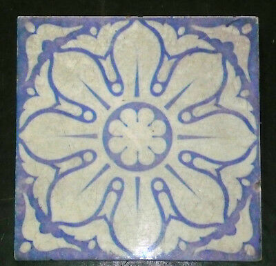 Victorian Blue and White Tile T&R Boote Burslem