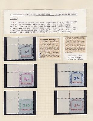 Gb Stamps 1962 Strike Mail Peoples League Mint Set From Hh Collection