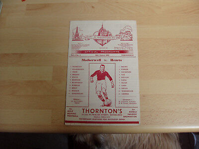 Hearts v Motherwell ( winners ) Lge Cup 1950/1