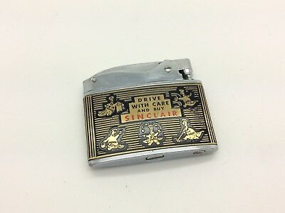 1950's Sinclair Oil Advertising Lighter Dinosaur Drive With Care & Buy Sinclair