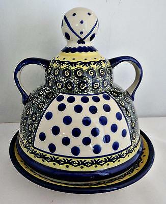 Boleslawiec Cheese Lady Covered Cheese Dish