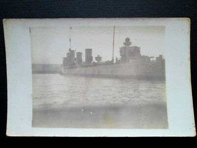 Hms Venetia, British Navy Destroyer - Real Photo Postcard (World War I)
