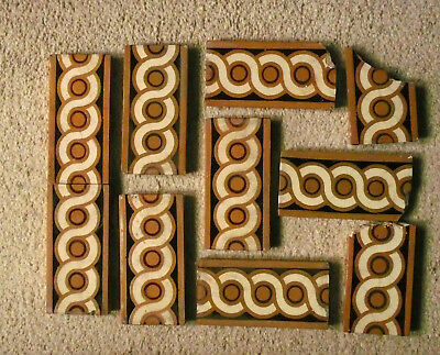 Set of Victorian Poole Pottery Edging Tiles Reclaimed