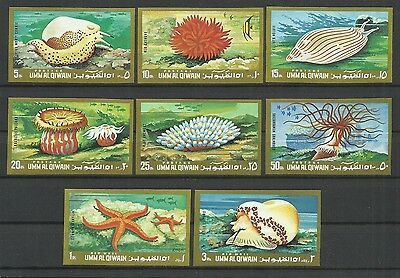 Fish-Marine-1972 Umm Al Qiwain-MNH Complete Set-Imperforated