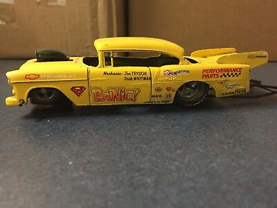 1/32 slot car 1955 Chevy brass chassis NHRA drag car Pro Track tires
