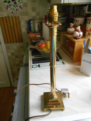brass column table  lamp (working)