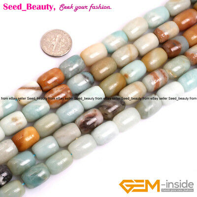10x14mm Natural Column Mixed Color Amazonite Gemstone Beads Jewelry Making 15''