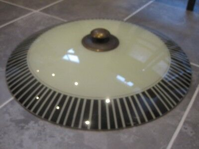 1930s Art Deco geometric Glass Lamp Shade Ceiling Light Cover original fitting