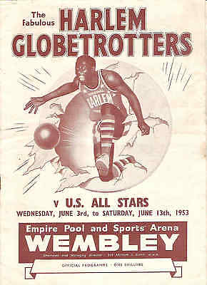 HARLEM GLOBETROTTERS v US ALL STARS USA Basketball at WEMBLEY 1953