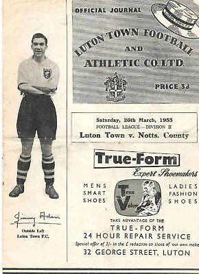 LUTON TOWN v NOTTS COUNTY   1954/5