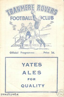 TRANMERE ROVERS Reserves v Winsford   1954/5