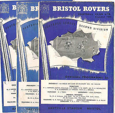 BRISTOL ROVERS v  DONCASTER ROVERS  1954/5