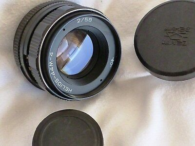 HELIOS -44m-4 58mm (VALDAI) F2 LENS M42mm FIT MADE IN USSR (AUTO STOP DOWN) MINT