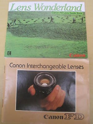 Two Booklets - Canon Fd Lenses