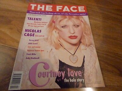 The Face - Feb 1993, Courtney Love / Hole / Nicolas Cage / Andrew Weatherall