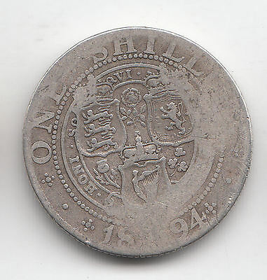 gb silver victoria shilling 1894      84j       by coinmountain