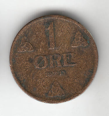 Norway 1 Ore 1913 Copper            49M                  By Coinmountain