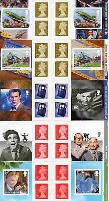 GB 2011-15 Selection of 5 Retail Booklets TV & FILM Themed FV £19.50