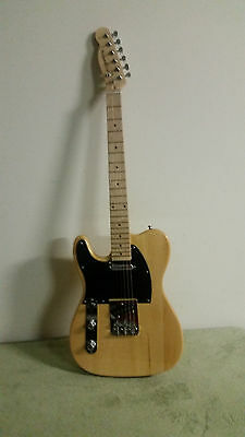 New 6 String Left Handed Natural Finish Tele Electric Guitar