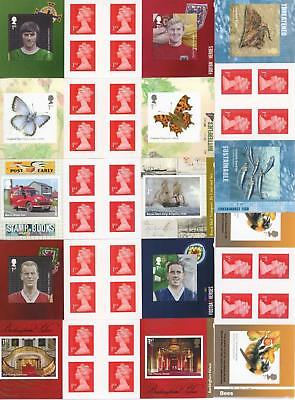 GB 2013-15 Selection of 7 Retail Booklets FV £27.30 LOOK!