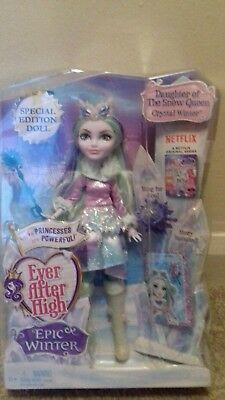 Bnib Ever After High Very Rare Exclusive Crystal Winter Doll