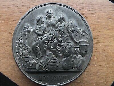1857 Manchester Exhibition Of Treasures White Metal  Medal