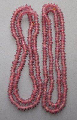 Two Necklaces Strands Small Glass Beads Nepal