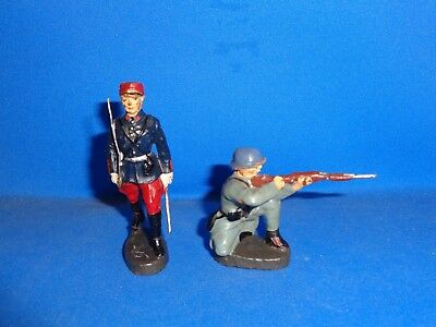 Group of Elastolin French Toy Soldiers #1