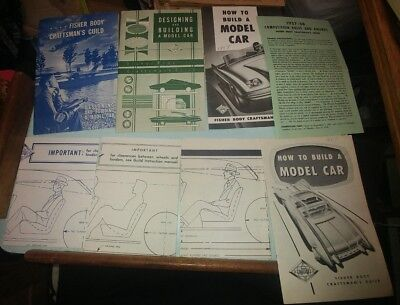 1957 58 59 63 Fisher Body Craftsman Guild Designing Model Car Brochure Templates
