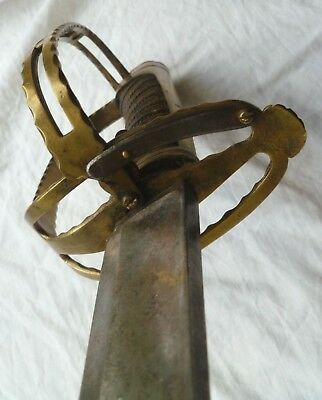 ANTIQUE 1780s FRENCH OFFICER REVOLUTIONARY &  NAPOLEONIC ERA SWORD HANGER SABRE