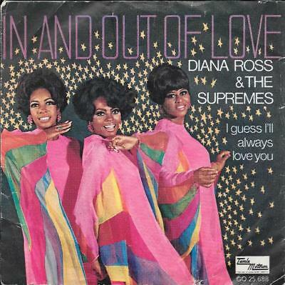DIANA ROSS & the SUPREMES 45 IN AND OUT OF LOVE+PS HOLLAND RARE MOTOWN