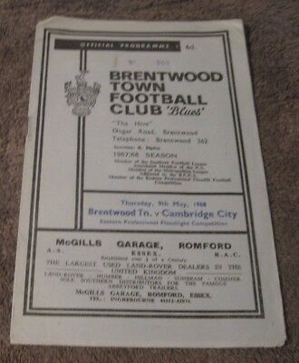 Brentwood Town  V  Cambridge City    May 1968