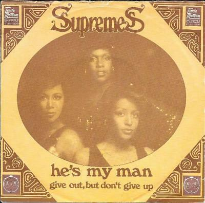 The Supremes 45 Hes My Man+Ps Holland Rare Motown