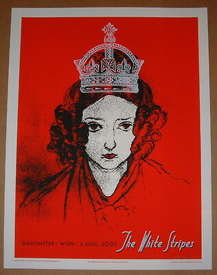 The White Stripes Rob Jones Vienna Austria Concert Poster Signed & Numbered 2007
