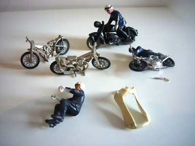 Britains: Police motorcycle spares, plus other bikes. job lot, made in England