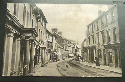 Postcard, Wales, High street, Cardigan : Posted 1905