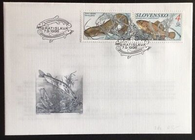 Slovakia 1998 Fishes Bratislava SHS First Day Of Issue