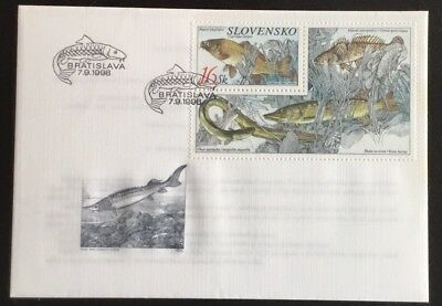Slovakia 1998 Miniature Sheet Fishes Bratislava SHS First Day Of Issue