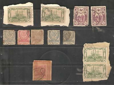 Z7 Turkey Cilicie France Cilicia cancelled used selection of stamps Ottoman